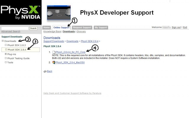 PhysX Download