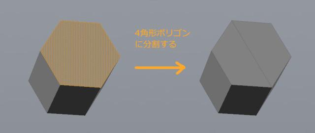 4角形ポリゴンに分割